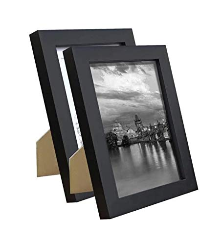 Kleinsten 5x7 Picture Frame Elegant Design 5x7 Photo Display for Desk or Wall Black 2 Pack