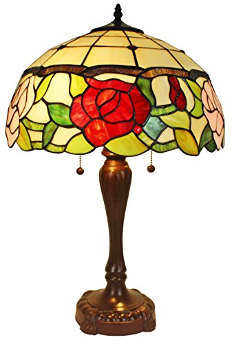Floral Tiffany Style Lamp (Amora Lighting Tiffany Style AM069TL16 Floral Table Lamp 24 In)