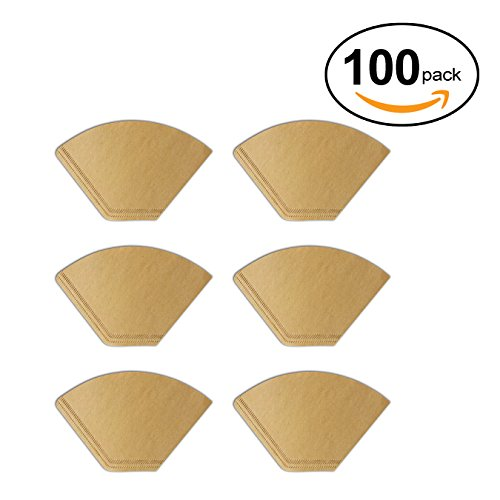 Coffee Paper Filter #2, Natural Brown 100 Count 6.75' Paper
