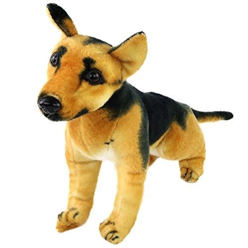 Houwsbaby Realistic Stuffed German Shepherd Dog Soft Animal Plush Toy, 10inch (Shepherd Dog)