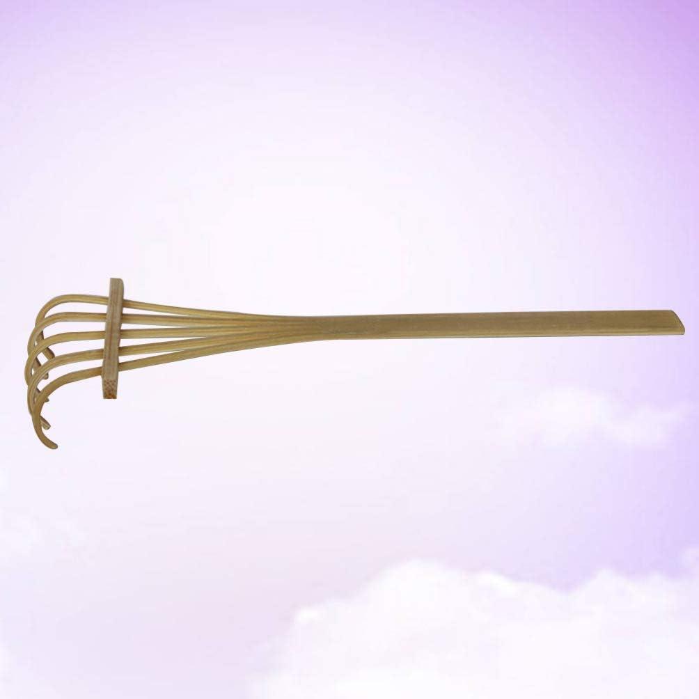 Yarnow Mini R/âteau de Jardin Zen Jardin Pierre de Sable Cinq Dents Bambou R/âteau de Sable de Table M/éditation Feng Shui Maison de Poup/ée D/écor /à La Maison