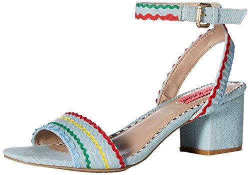 (Betsey Johnson Women's Farrah Heeled Sandal Denim 8.5 M)