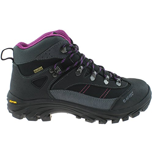LADIES HI-TEC CAHA WP CHARCOAL VIOLA WATERPROOF VIBRAM WALKING HIKING BOOT-UK 4 (EU 37)
