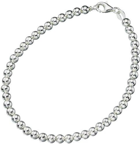 Elements Sterling Silver Ladies Ball Chain Bracelet of Length 19cm L1O5Oxg2R