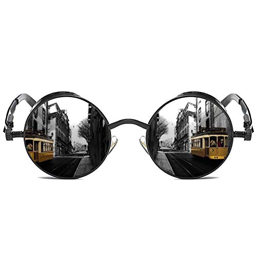 Gothic Steampunk: Something relates to, or resembles the Goths and inspired by science fiction, combining the fashion hippie and cool rock style to show their unique DimensionFrameLength:5.36Inches(136mm)Lens Width:1.81(46mm)InchesLens Height:1.93In...