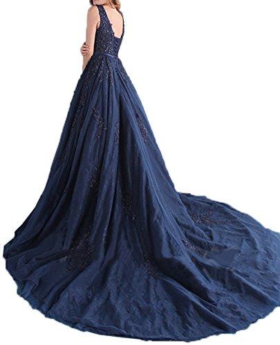 Damen Spitze Charmant Lang Promkleider Gruen Dunkel Traumhaft V Abschlussballkleider Ausschnitt Abendkleider Abiballkleider pdaqawE