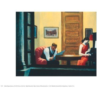 (Room In New York - Poster by Edward Hopper (14 x 11))