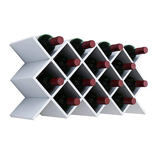 Wang Chun Simple Modern Diamond Wine Rack, Hanging Wine Lattice, Living Room Wall Shelf, Creative Wine Cooler A++
