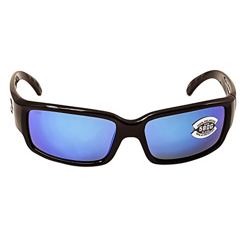 Costa del Mar Unisex-Adult Cabalitto CL 11 OBMGLP Polarized Iridium Wrap Sunglasses, Black, 59.2 - Surf Sunglasses Brand