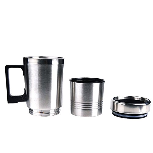 41 6WygoFEL Coffee Heater Stainless Steel Electric Smart Mug V Car Electric Kettle Heated Mug Car Coffee Cup With