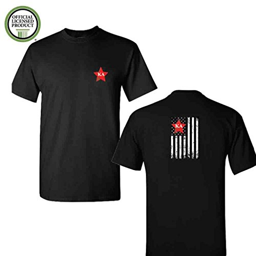 (Kappa Alpha Order Short Sleeve Tshirt- Distressed Flag Design Black Shirt- Great Shirts For Kappa Alpha Order Rush (Medium))