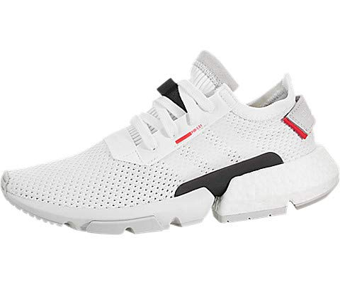 adidas Originals Kids Unisex POD-S3-1 J (Big Kid) White/Shock Red 6 M US Big Kid