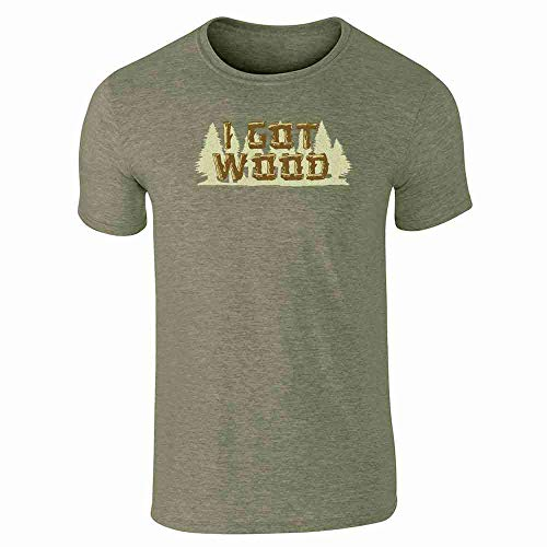 Pop Threads I Got Wood Halloween Costume Drinking Zombie Heather Military Green XL Short Sleeve T-Shirt]()