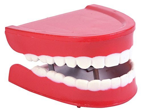 Bristol Novelty GJ064 Chatter Choppers Halloween Prop Set, Red/White, One Size]()