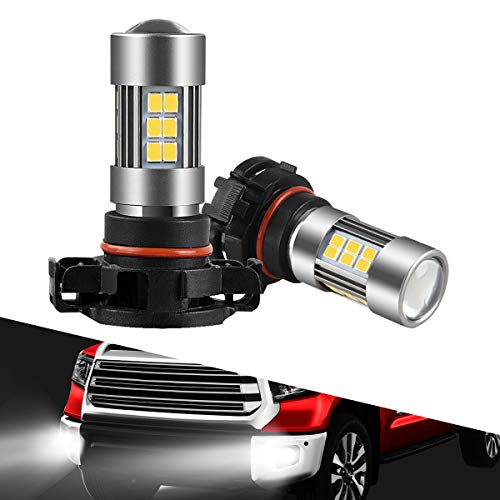 Dot European - SEALIGHT 5202 LED Fog Lights Bulbs 2504/H16 Type 1(European Type, Not for Japan Vehicle)/PSX24W/9009, DOT Approved, Xenon White 6000K, 27 SMD, 1 Yr Warranty (Pack of 2)
