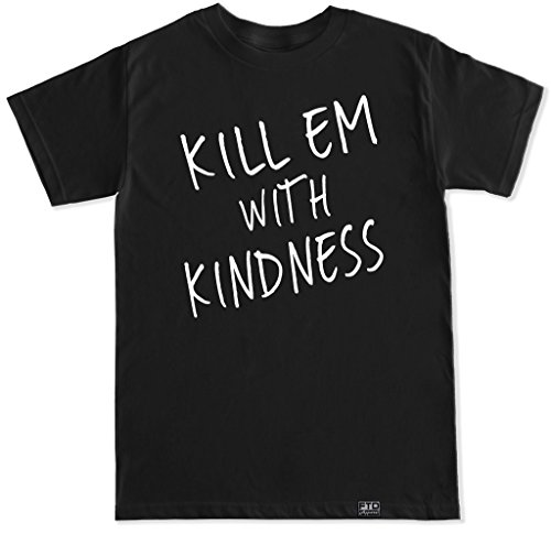 FTD Apparel Men's Kill Em with Kindness T Shirt - Medium Black