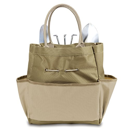 Picnic Time 'Garden Tote' with Tools, Tan/Cream