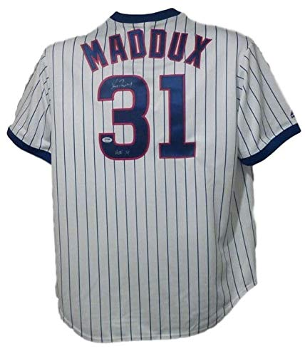 Greg Maddux Autographed Signed Chicago Cubs Majestic Jersey w/HOF 14 & - PSA/DNA Certified