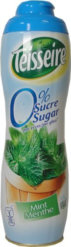 Green Mint Sugar Free Teisseire Syrup - 600ml, One