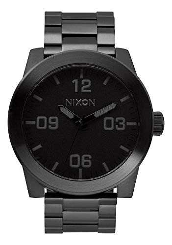 Nixon Men's 'Corporal SS' Quartz Stainless Steel Casual Watch, Color:Black (Model: A346001) from NIXON