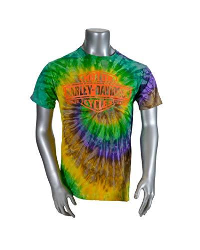 Harley-Davidson Woodstock 2019 Limited Edition Custom Tie-Dye T-Shirt - Mardi Gras (2Xlarge)