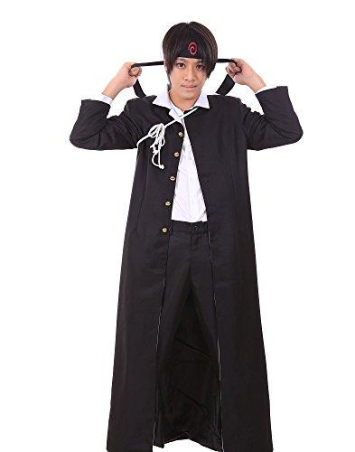 [De-Cos Naruto Cosplay Costume Konoha Gakuen Special Uzumaki Naruto Outfit Set V7] (Konoha Shinobi Costume)