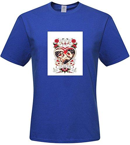 DIY mens Flowers Skull T-shirts,custom cotton Tshirt