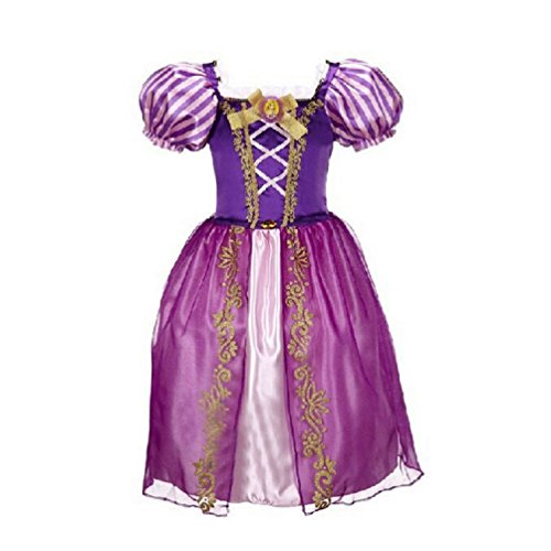 Rapunzel Princess Dress Kids Girl Halloween Costume 3T-12 USA (11-12 (150cm)) ()