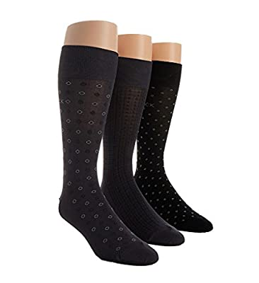 Calvin Klein Microfiber Assorted Dress Sock - 3 Pack (ACB175)