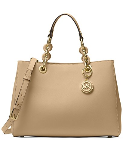 Michael Kors Cynthia Small East West Leather Satchel Retail $298