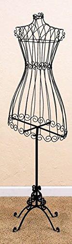 (Intelligent Design Bronze Brown 59'' Dress Form | Antique Victorian Iron Standing)