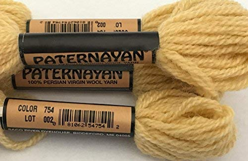 (Paternayan Needlepoint 3-ply Wool Yarn-Color 754-Old Gold-this listing is for 2 mini 8- yd skeins or pre cut equivalent of Paternayan)