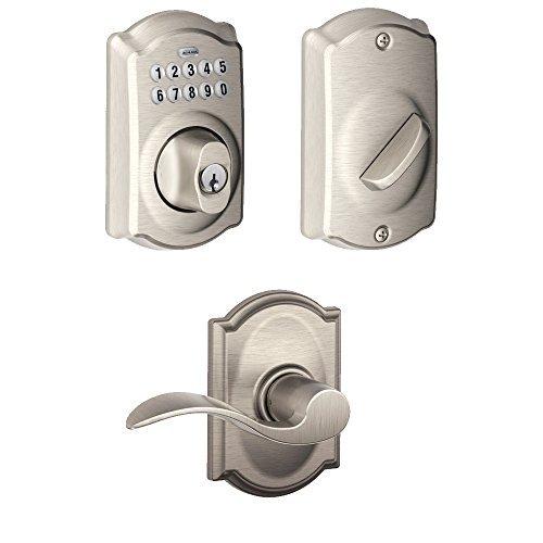 Schlage BE365CAM619 Keypad Deadbolt w/ Accent Passage Lever in Satin Nickel by Schlage Lock Company
