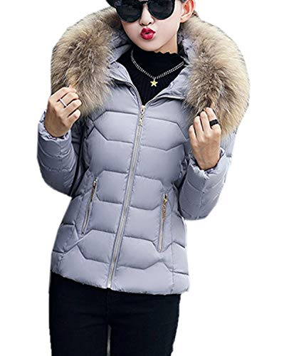Femmes Capuche Fox Garder Mode De En Plumes Outwear Casual Manteau Manches Hiver Chaud Au À Fräulein Automne Veste Longues Slim Duvet Survêtement 8qwtv4d