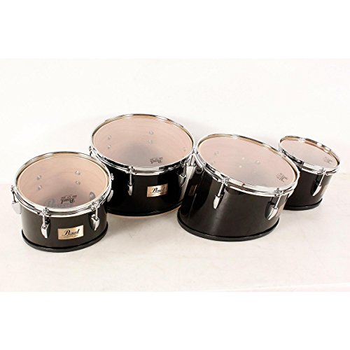 Pearl Competitor Marching Tom Set Midnight Black (#46) 8,10,12,13 set (Quad Marching Drums)