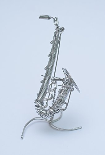 Metal Wire Gift Art Handmade Saxophone Musical Instrument for Decorations - Twisted Souvenirs Craft Handcrafted Toys- Specialized Music Player Ornaments Charms for Men/women/boys/girls/kids/guys. (Beatles Drum Collection)