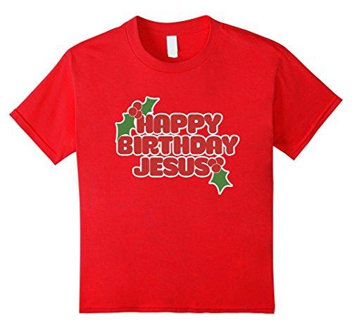 Kids Happy birthday Jesus t-shirt funny Christmas party t...
