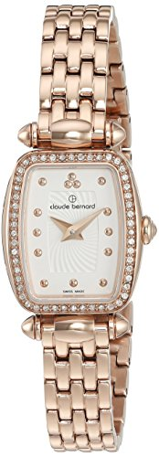 Claude Bernard Women's 'Mini Collection' Quartz and Stainless-Steel-Plated Dress Watch, Color:Beige (Model: 20211 37RPM AIR)