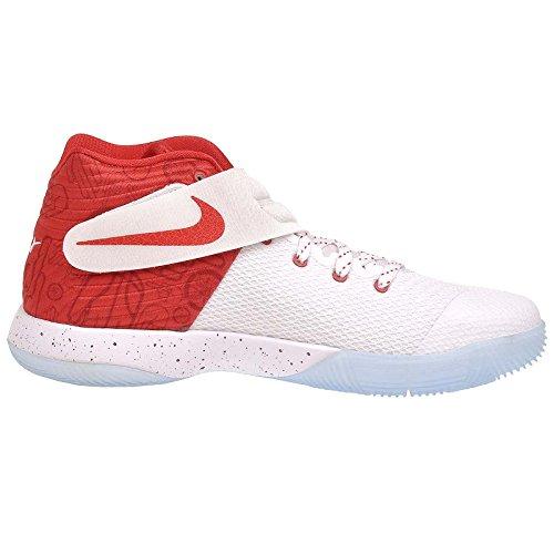 Nike Grundskola Pojkar Kyrie 2 Basketskor Vit / Universitet Röd-gym Röd