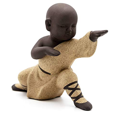 NEWQZ Chinese Kung Fu/Gong fu Monk Figurine for Home Decor, Ceramic Statues Tabletop Display Living Room Bedroom Ornaments Decorative Accessories