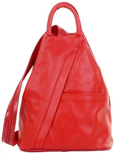 Italian Soft Leather Shoulder Bag - Primo Sacchi Italian Soft Napa Leather Red Top Handle Shoulder Bag Rucksack Backpack