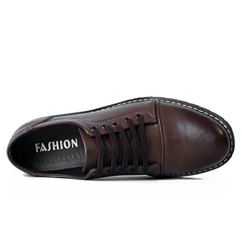 XIAFEN Mens 2016 Hot-Sale Classic Style Lace-Up Be Popular Casual&Business Oxford Shoes Dark Brown XKiSliwk2b