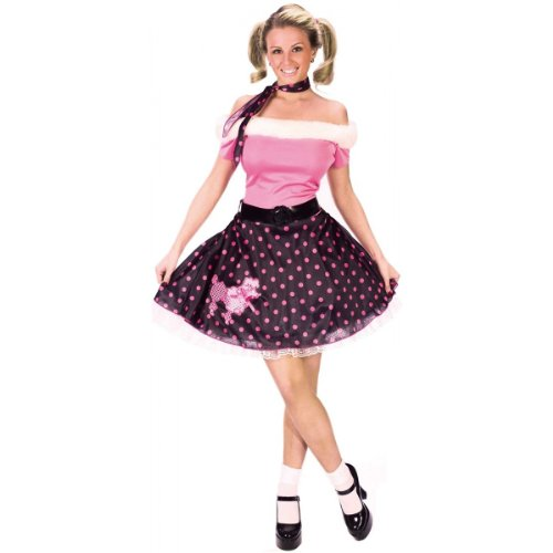 Costume 50's Dress Poodle (Fun World  Women's 50's Poodle Dress - Womens Sm/Md (2-8))