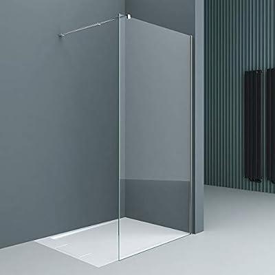 doporro Lujosa Mampara/panel de ducha de vidrio transparente, diseño Bremen1K 50x200 | Estabilizador de vidrio real de 8 mm | Vidrio de seguridad templado | Nano - revestimiento incluido: Amazon.es: Bricolaje y herramientas
