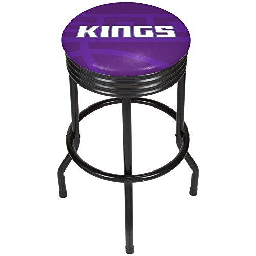 Trademark Gameroom NBA1006-SK2 NBA Black Ribbed bar Stool - Fade - Sacramento Kings