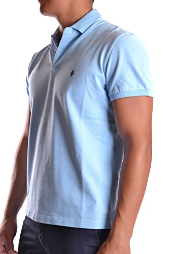 Ballantyne Herren MCBI032058O Hellblau Baumwolle Poloshirt