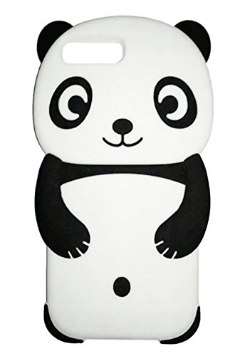iPhone 8 Plus Case,iPhone 7 Plus Case Cute 3D Animal Panda Protective Soft Silicone Phone Case Compatible for Apple iPhone 7 /8Plus