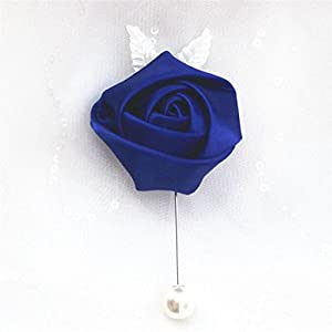 S-SSOY Boutonniere Bridegroom Groom Men's Boutonniere Groomsmen Best Man Boutineer with Pin Brooch Corsage for Wedding Homecoming Prom Suit Decor 29