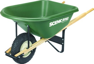 Scenic Road Mfg G6-1K Poly Wheelbarrow, Knobby Tire, 6-Cu. Ft. - Quantity 1