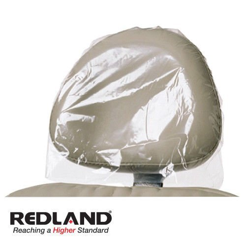 Dental Headrest Cover Sleeves 11''x 9.5'' Clear 250/Box RED-BF-9000 (Pack of 4) by Redland Dental Products